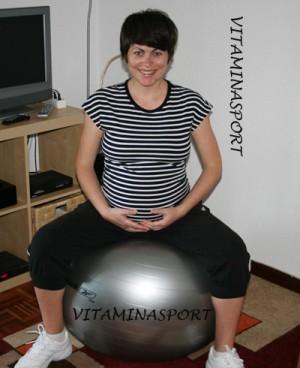 Упражнения за бременни с фитнес топка - да подсилим зоната на таза за идването на бебето
